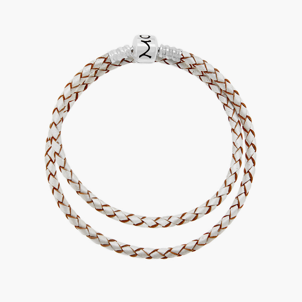 Double Leather Bracelet Pearl