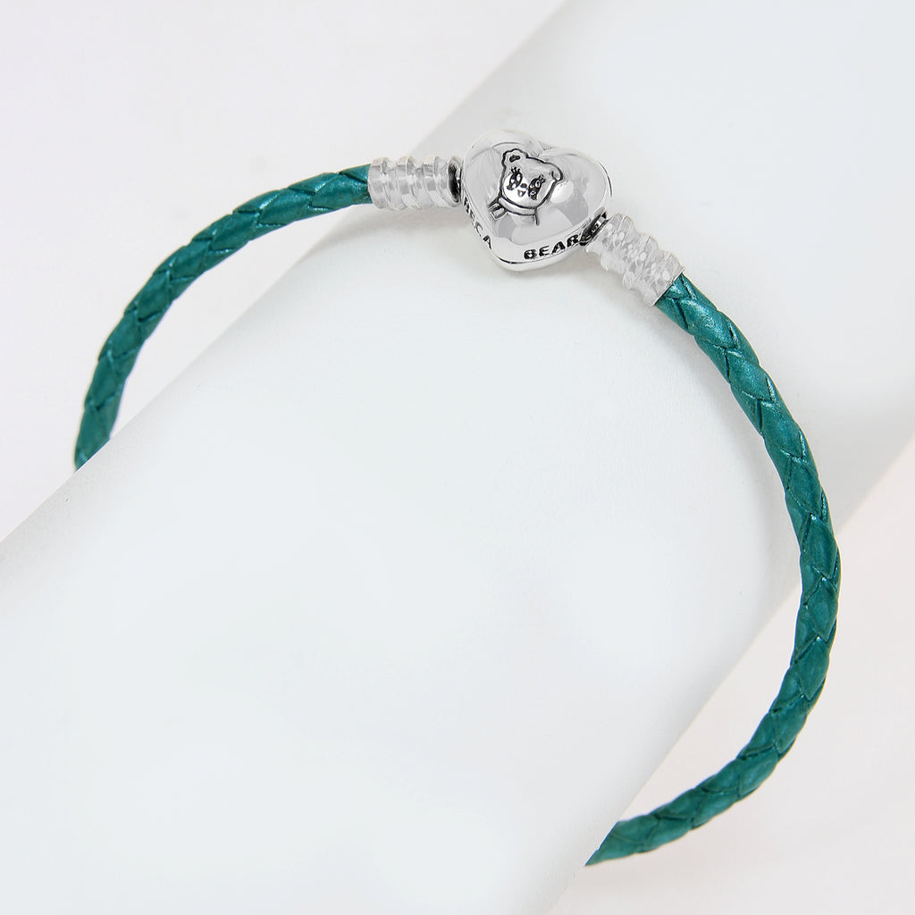 Beca Bear Single Leather Bracelet- Trully Teal