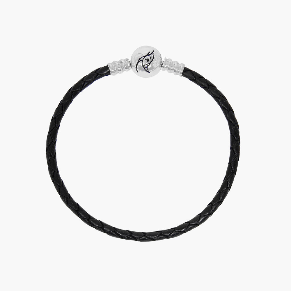 Single Leather Bracelet Black