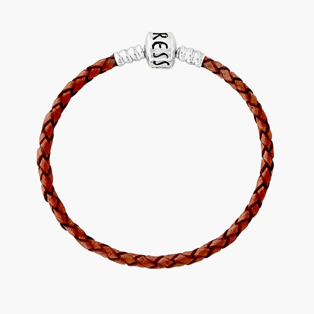 Single Leather Bracelet Brown