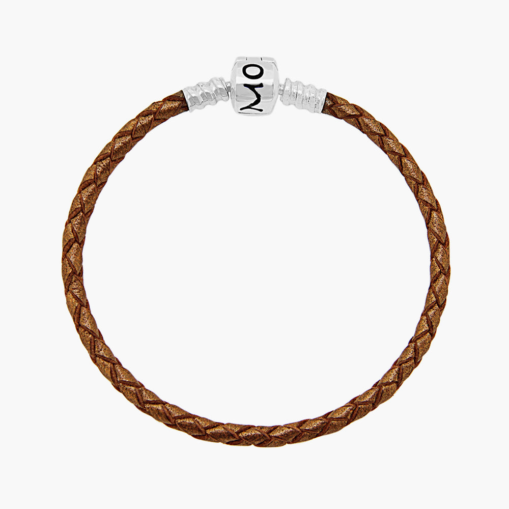 Single Leather Bracelet Bronze