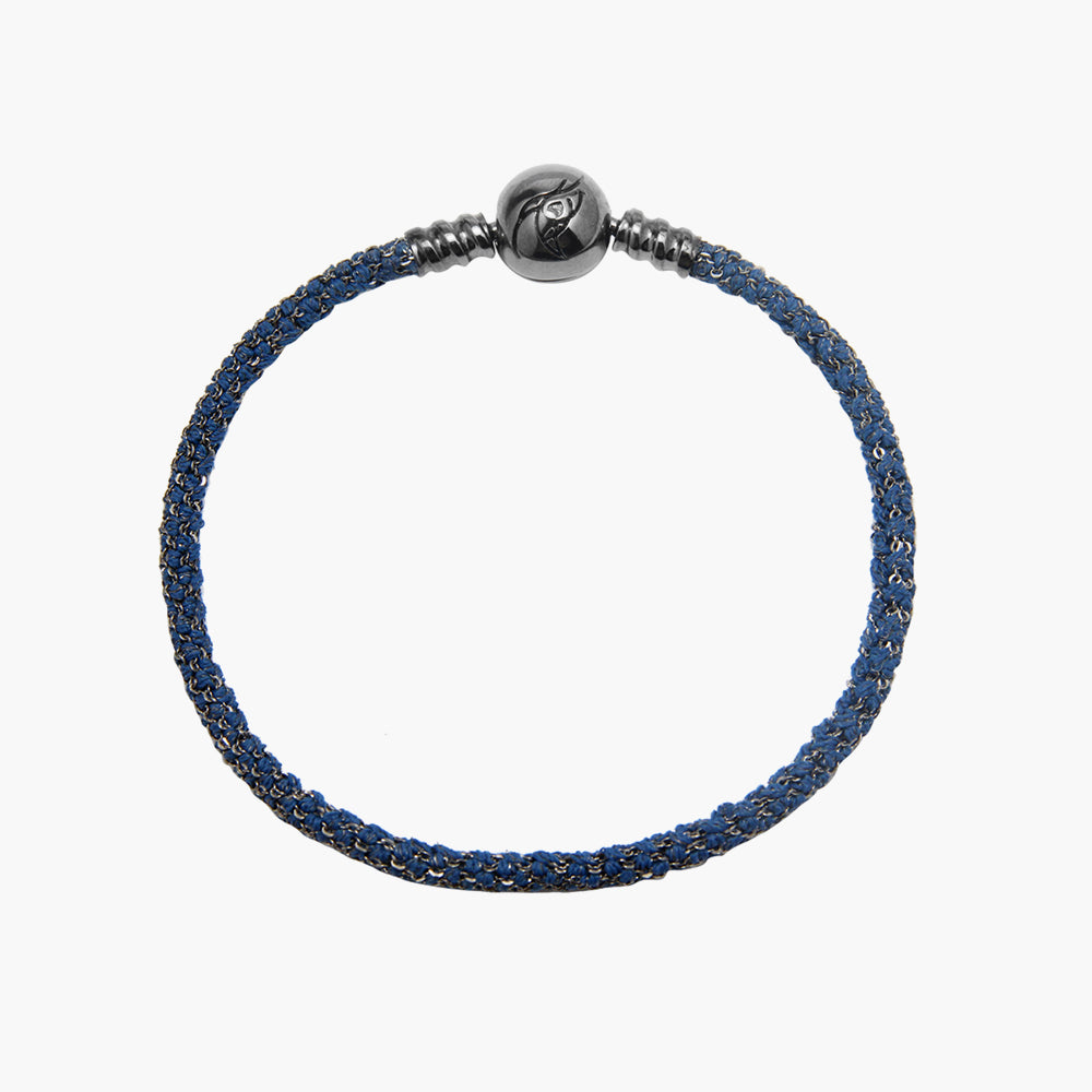 Single Italian Silk Bracelet - Blue BRH