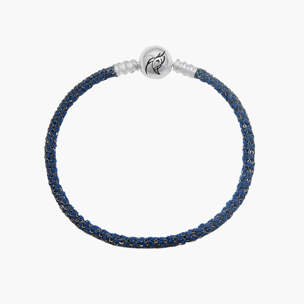 Single Italian Silk Bracelet - Blue