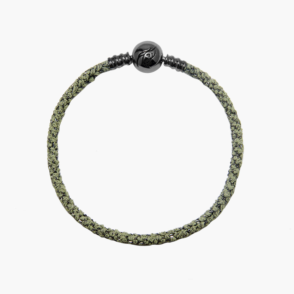 Single Italian Silk Bracelet - Green BRH