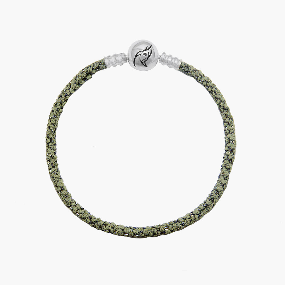 Single Italian Silk Bracelet - Green