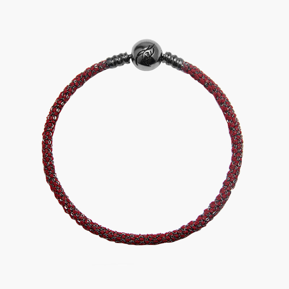 Single Italian Silk Bracelet - Red BRH