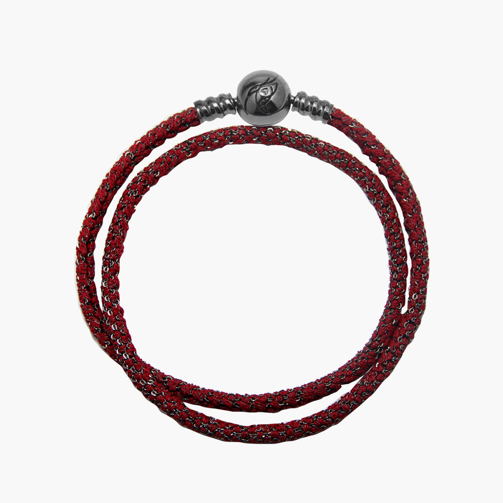 Double Italian Silk Bracelet - Red BRH