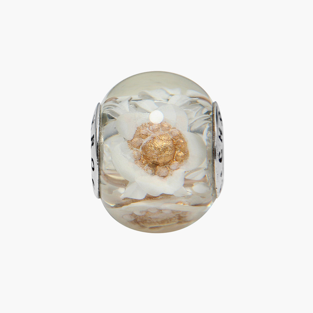 Spring Bouquet Gold Amber Bead