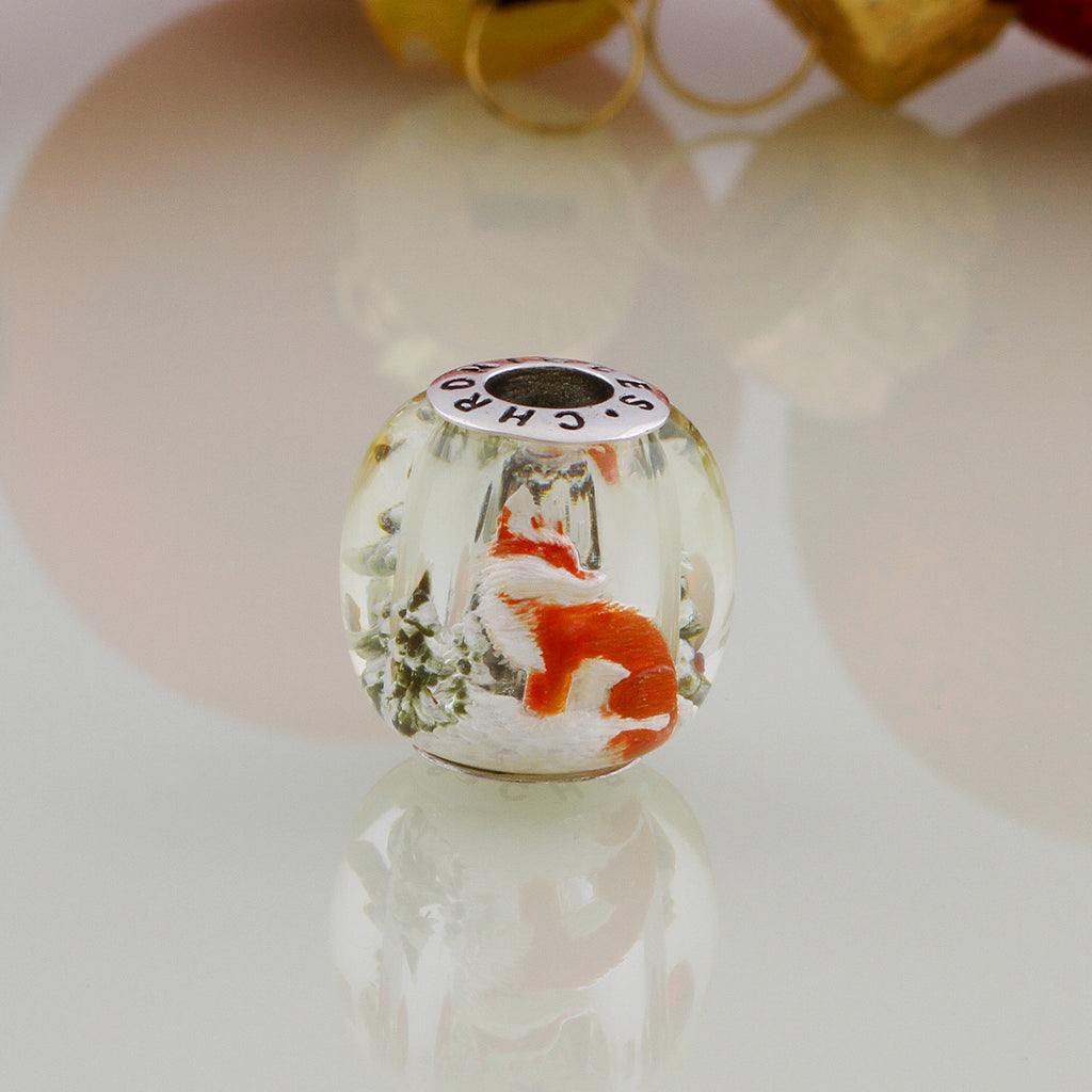 Little Foxy Amber Bead