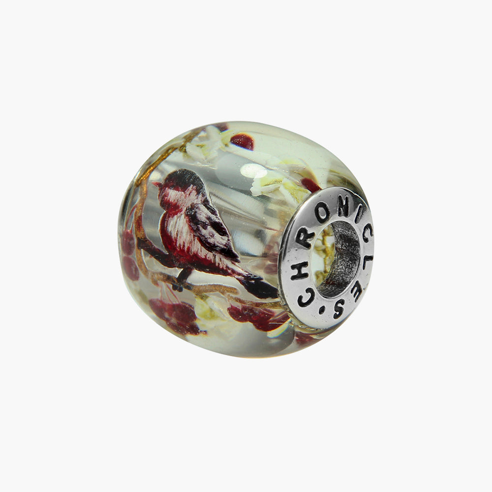 Red Robin Amber Bead