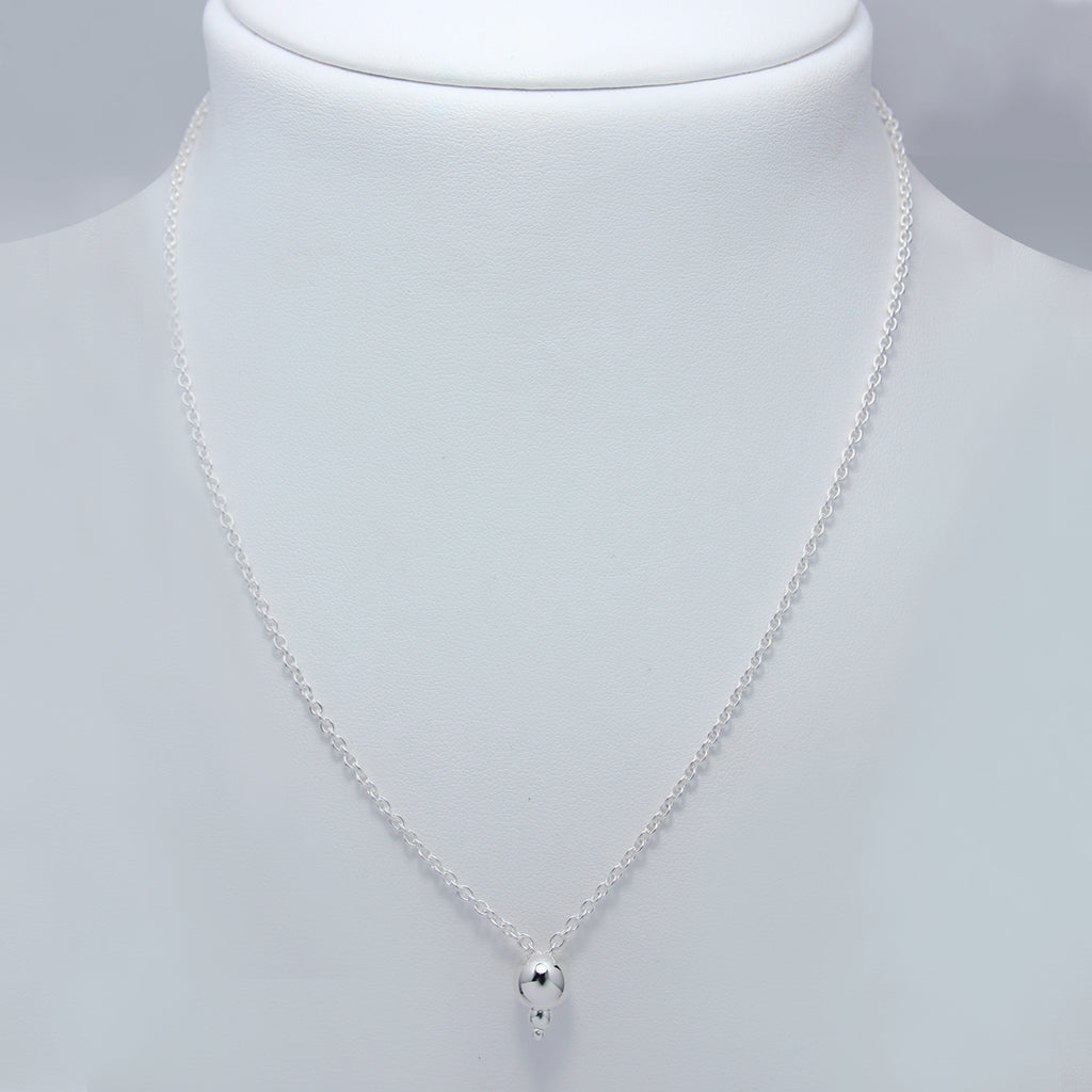 Sterling Silver Necklace 90cm