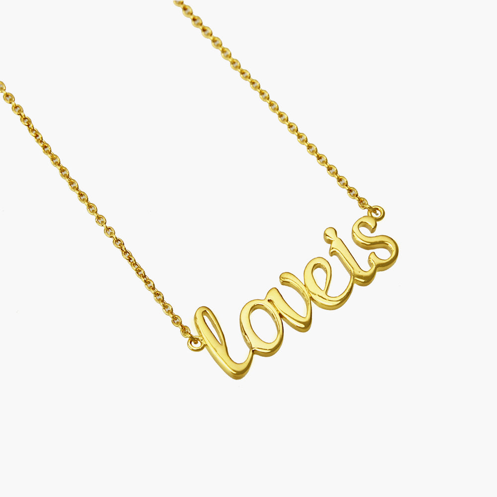 Loveis - Customise Gold Necklace