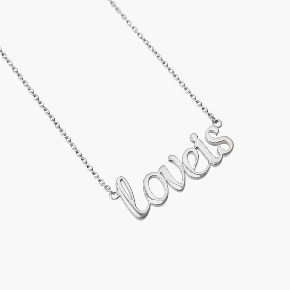 Love is - Customise Silver Necklace