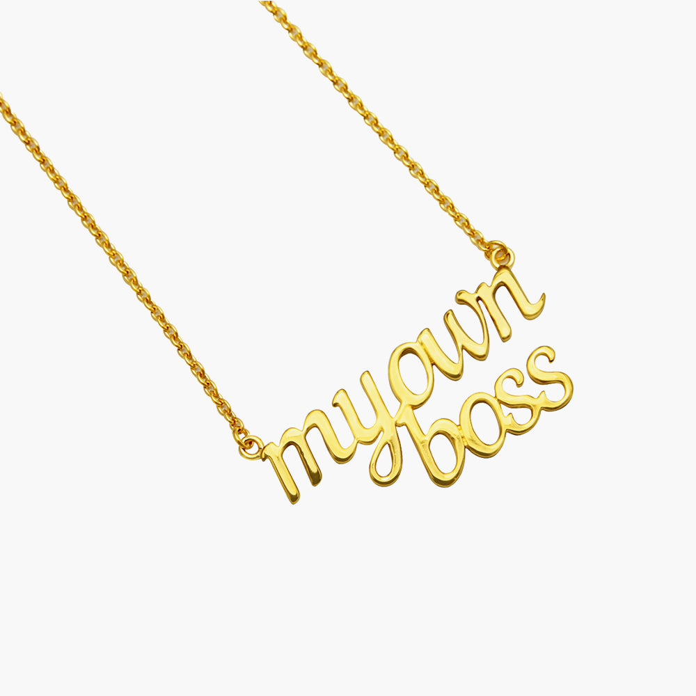 My Own Boss - Customise Gold Necklace