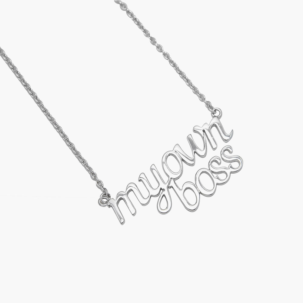 My Own Boss - Customise Silver Necklace