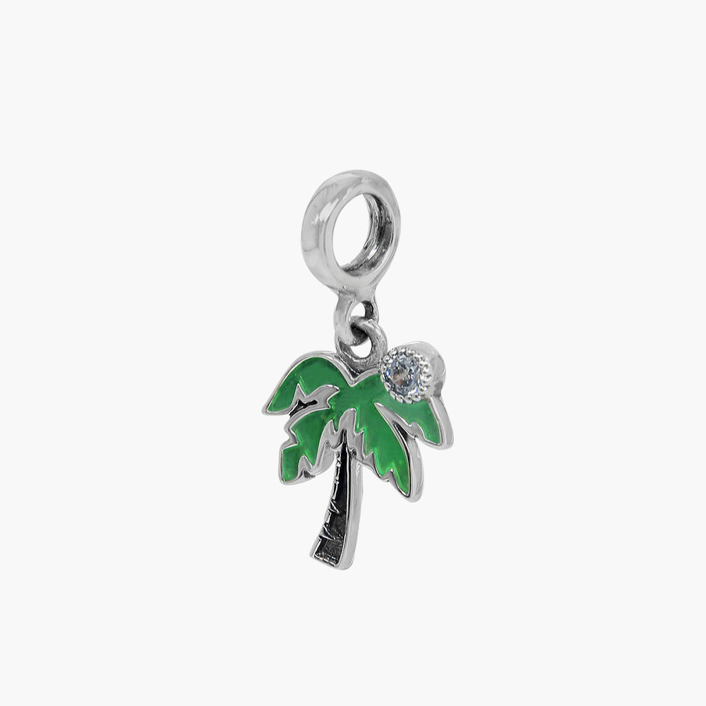 Palm Tree Dangle Bead