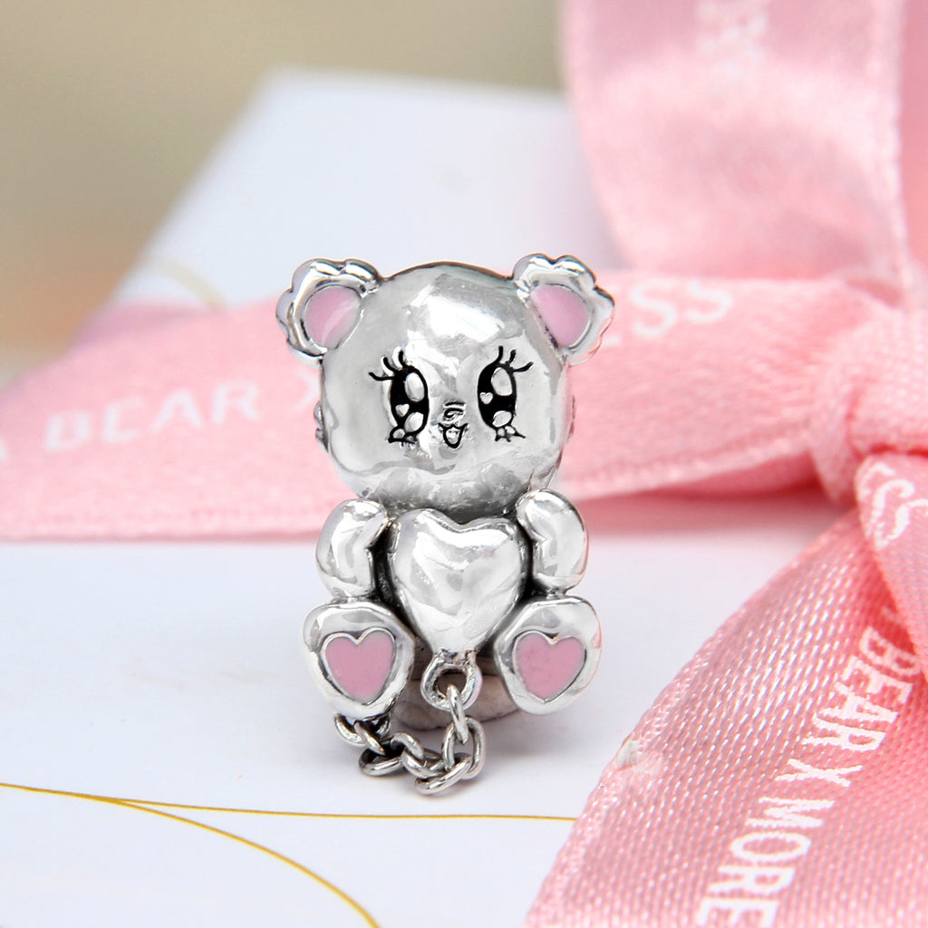 Beca Bear Heart Bead