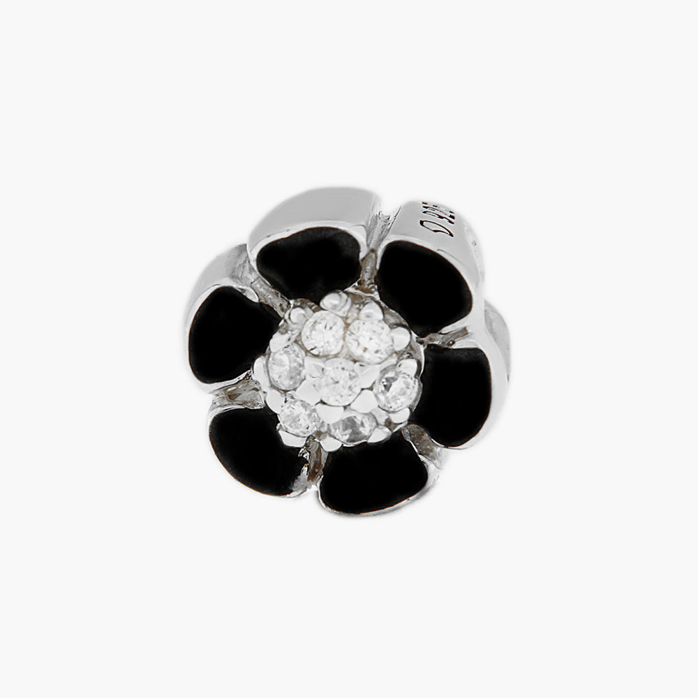Black Flower Bead