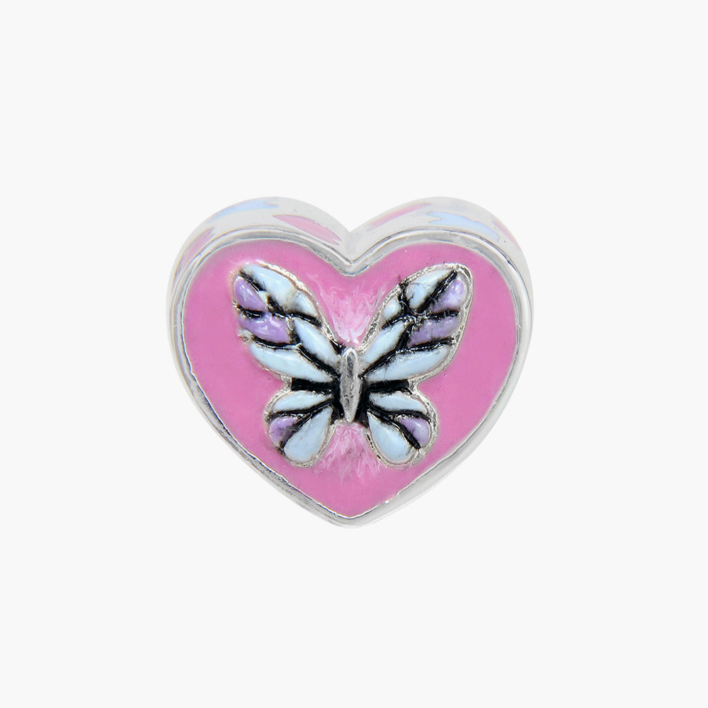 Butterfly Heart Bead