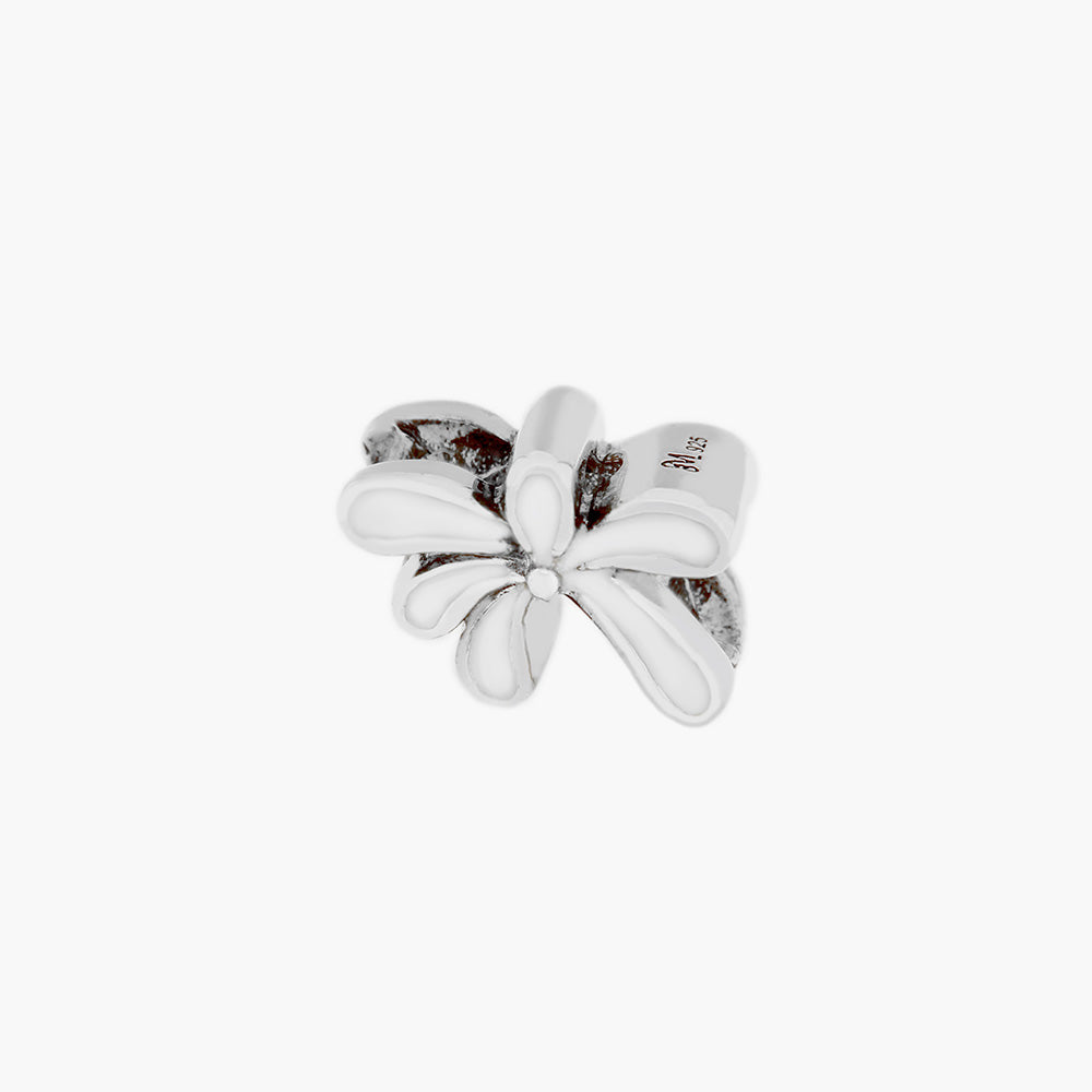 White Orchid Flower Bead