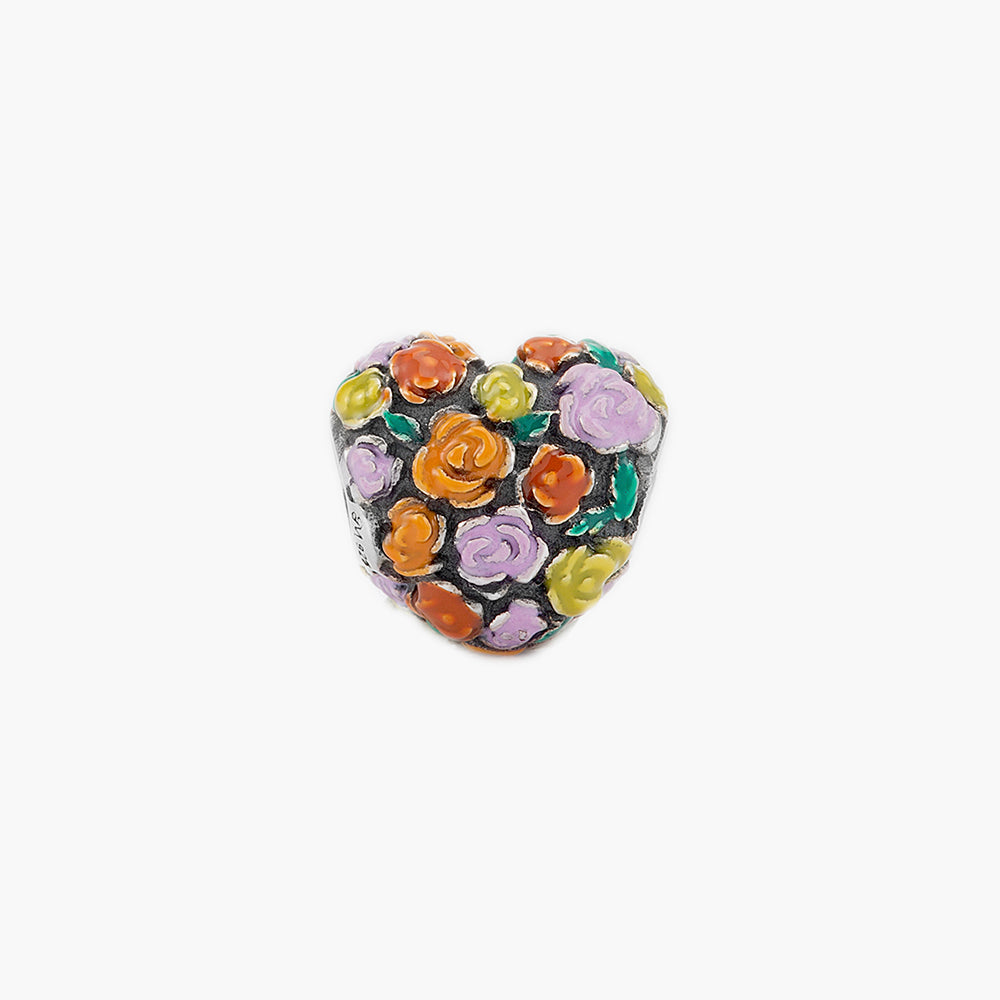 Flower Heart Bead