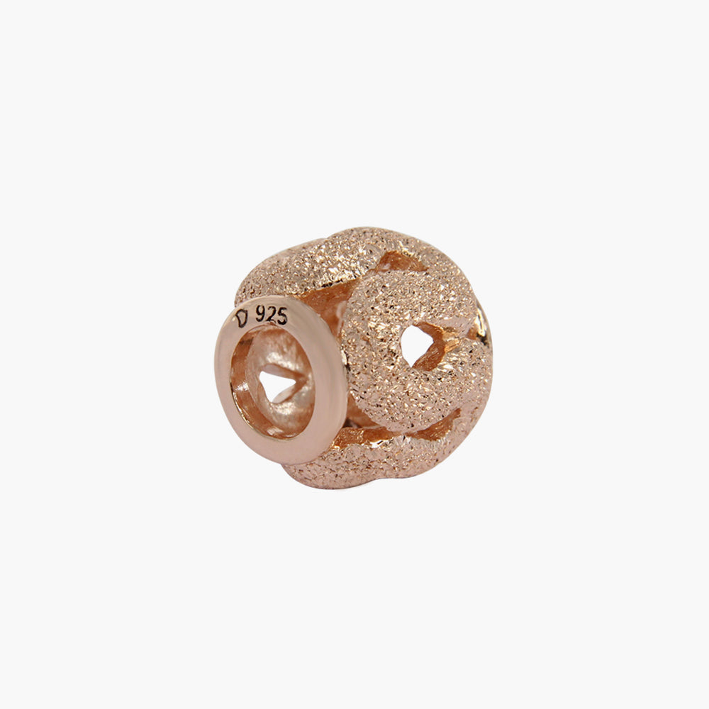 Rose Gold Twirl Bead