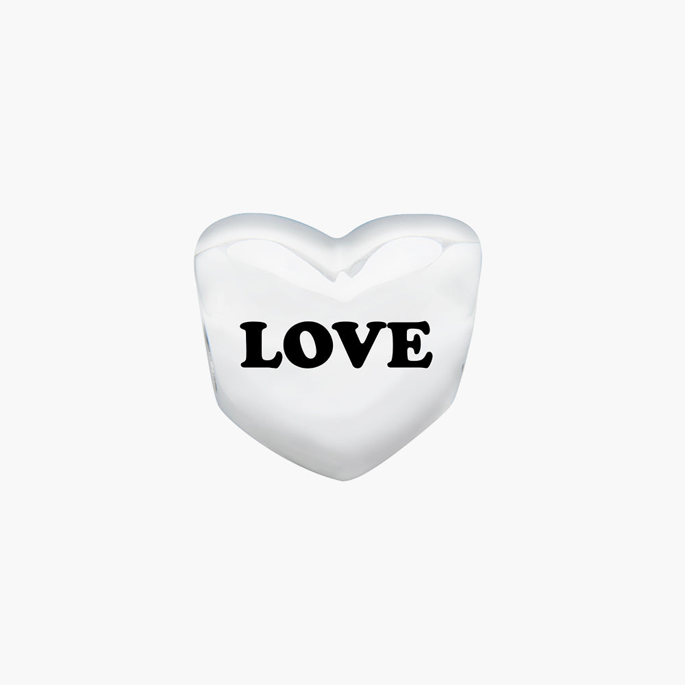 Customised Heart Bead (4 letters)