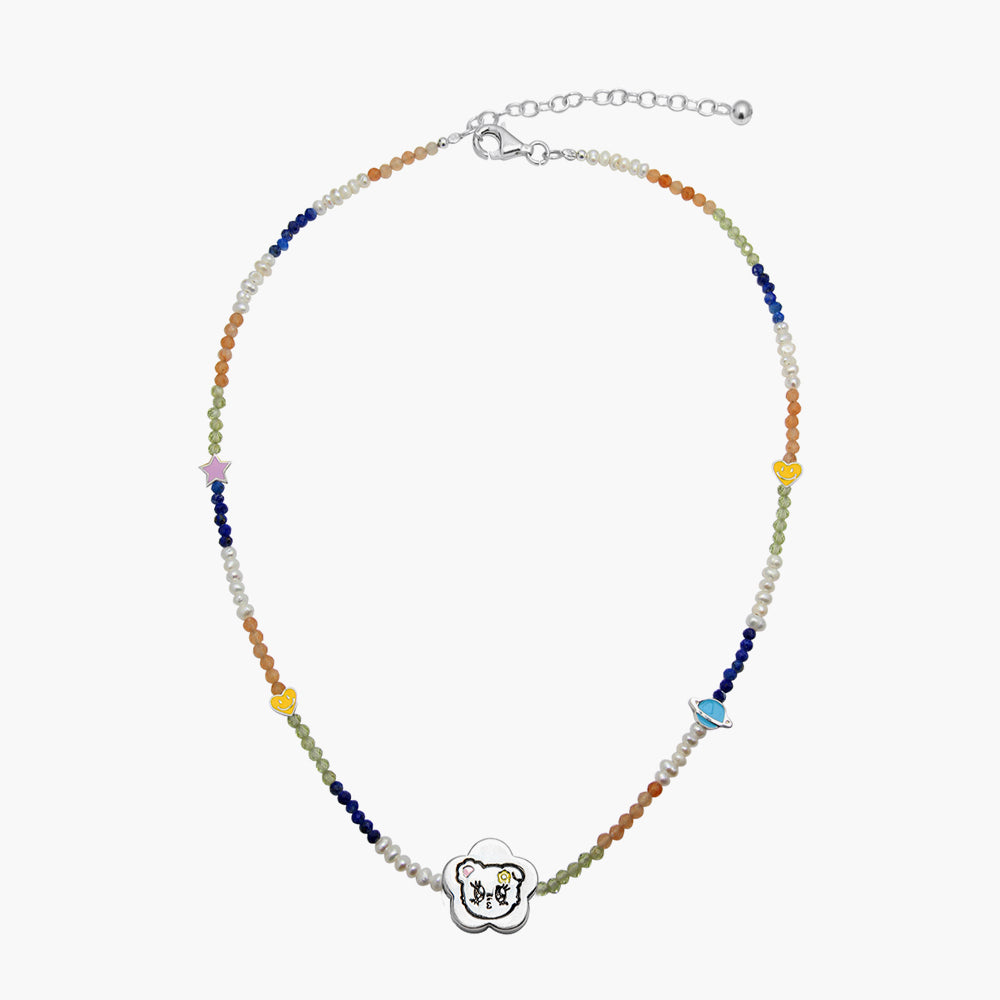 Beca Bear Stone Necklace