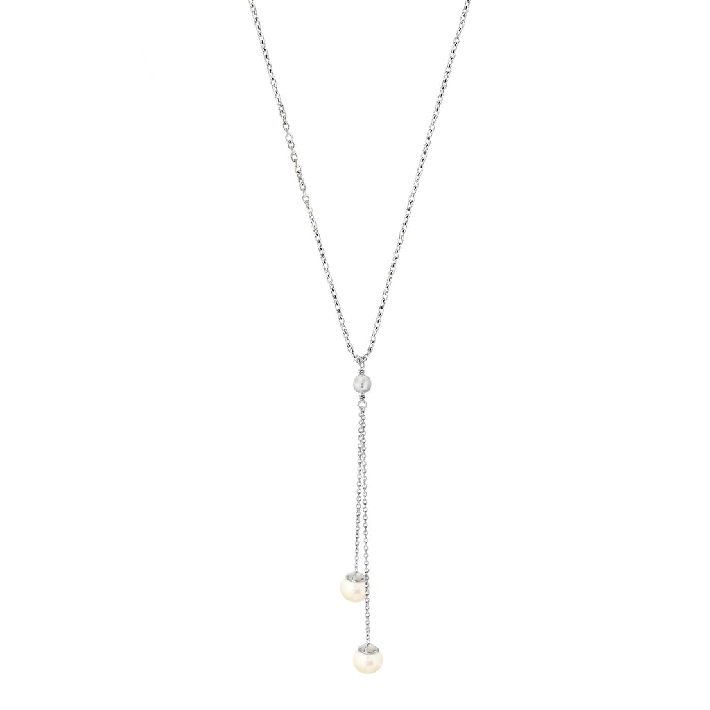 Viva Pearl Double Drop Necklace