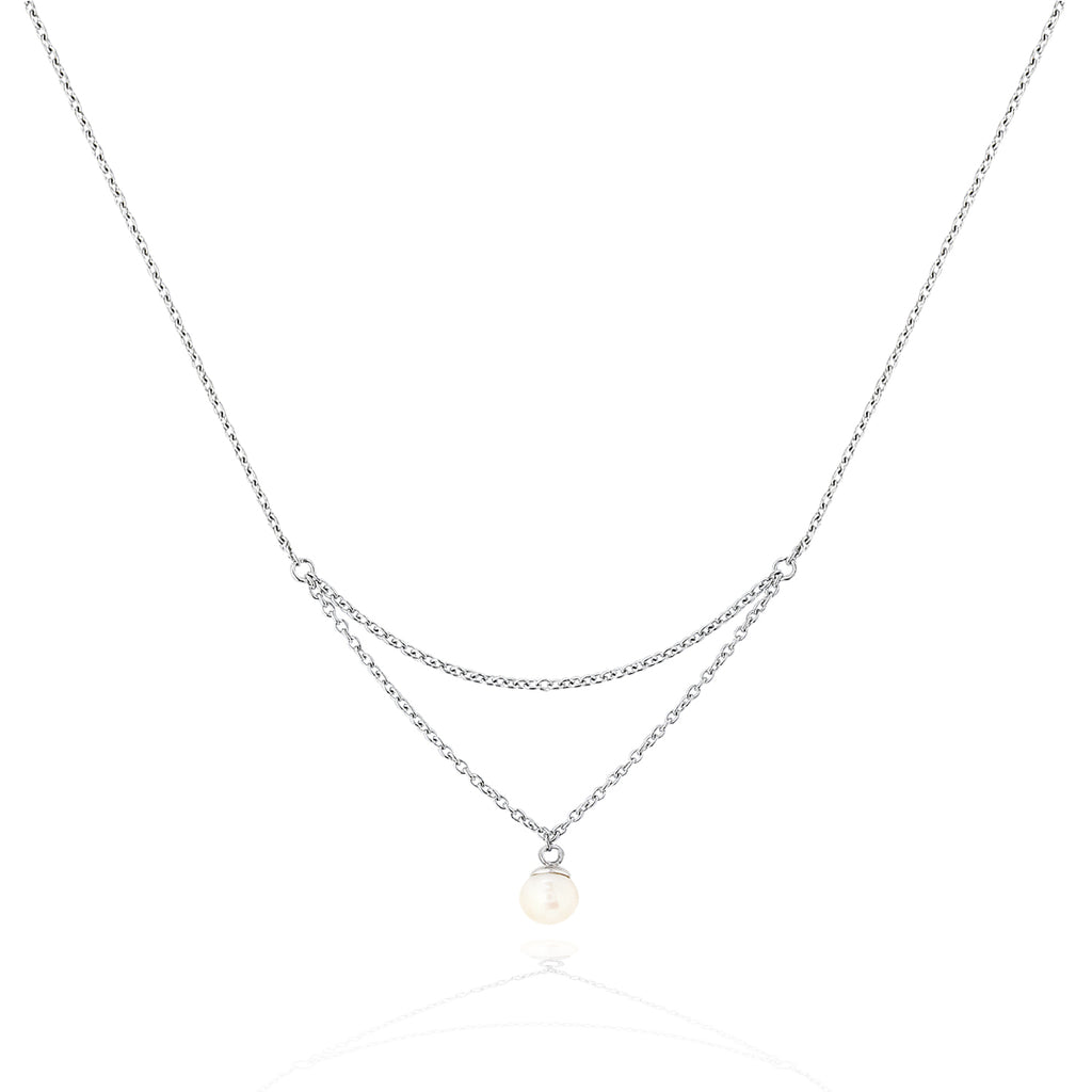 Viva Pearl Double Chain Necklace