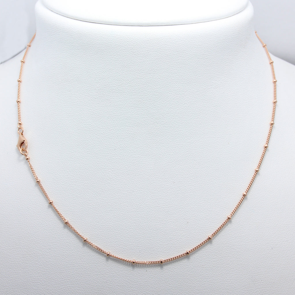 Rose Gold Ball Necklace