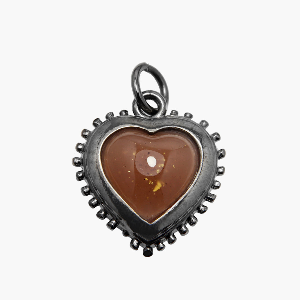 Si-Pueng Light Brown Heart Amulet