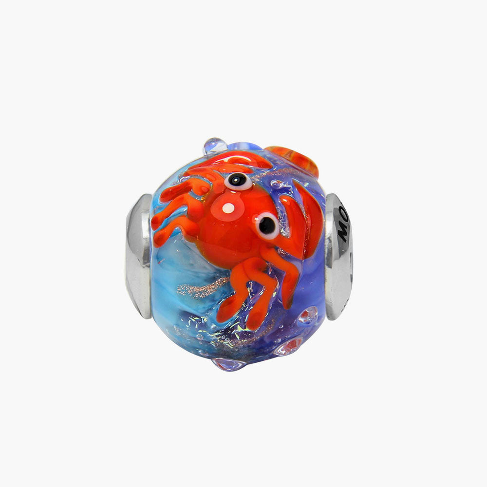 Crab Glass Bead
