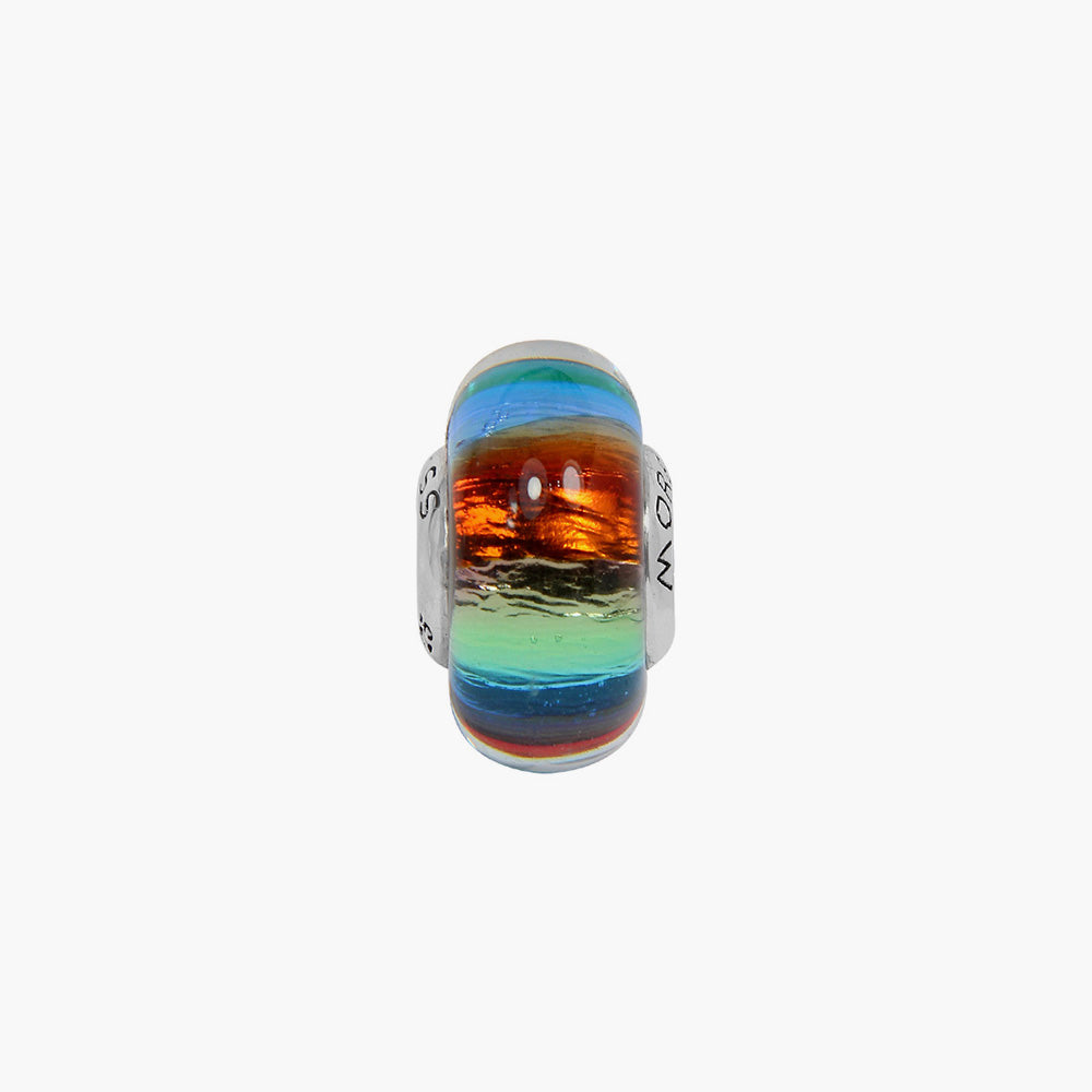 Rainbow Murano Glass Bead