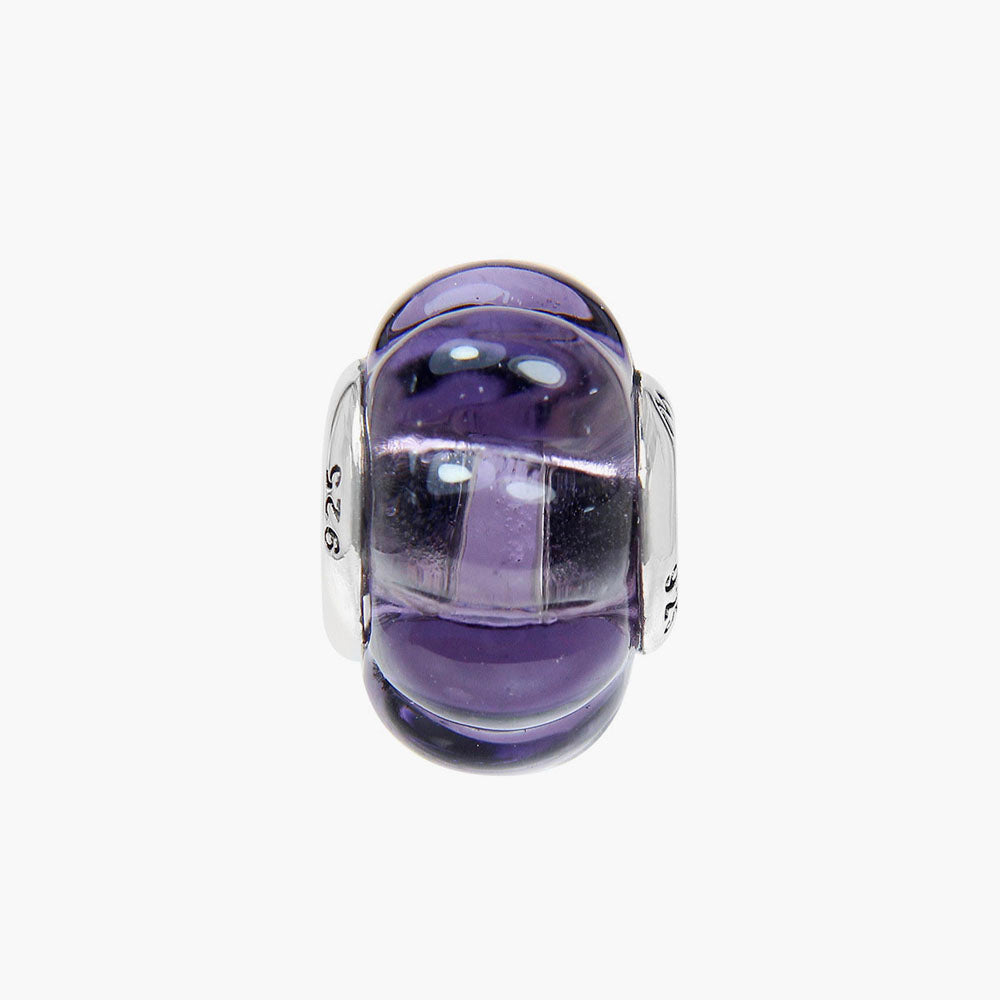 Pumpkin Purple Murano Glass Bead