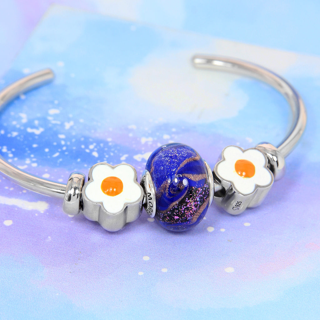 Galaxy Swirl Glass Bead