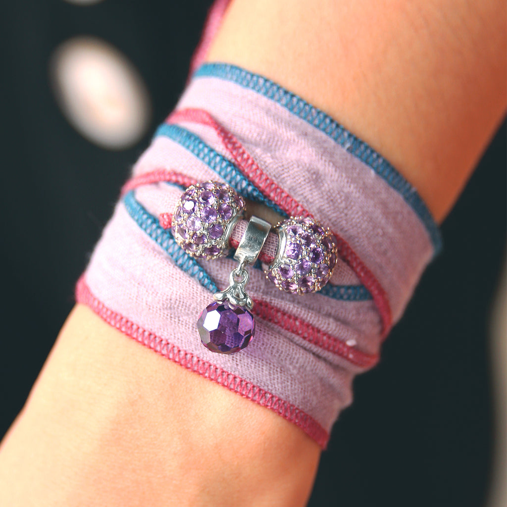 Pastel Candy Cotton wrap Bracelet