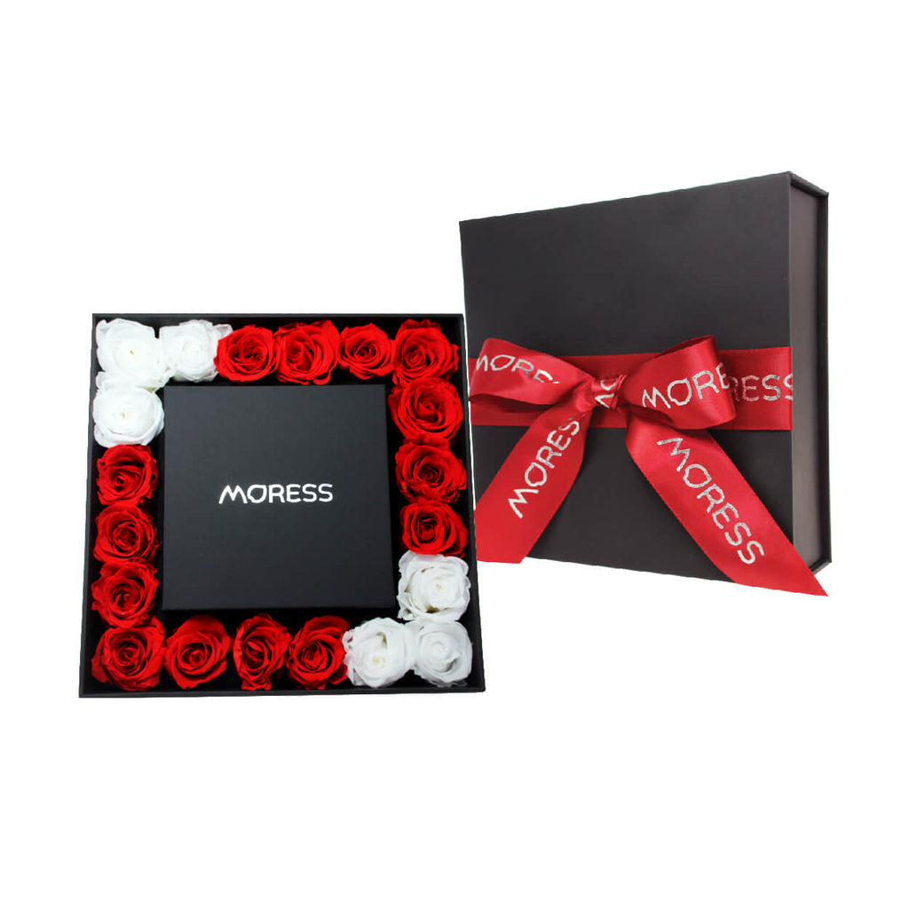 Forever Red and White Rose Giftbox