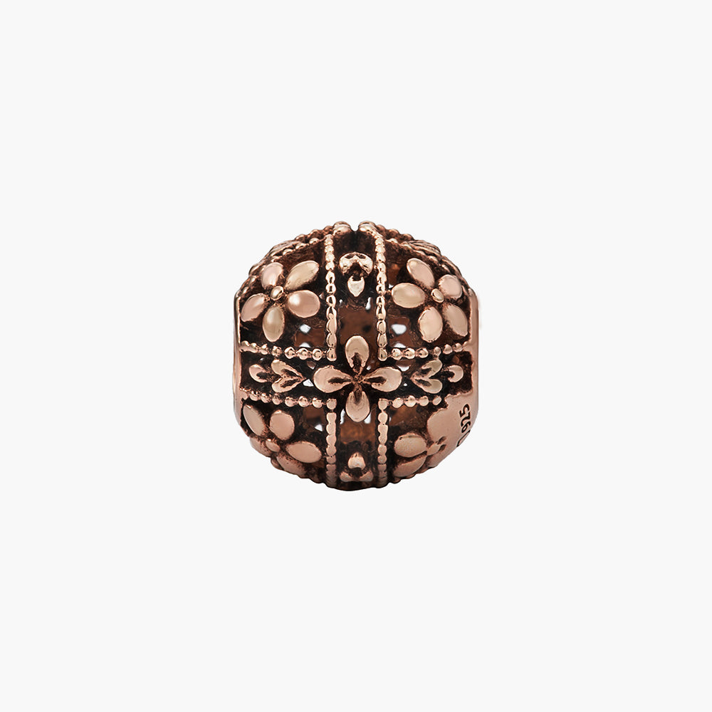 Flower Rose Gold Bead