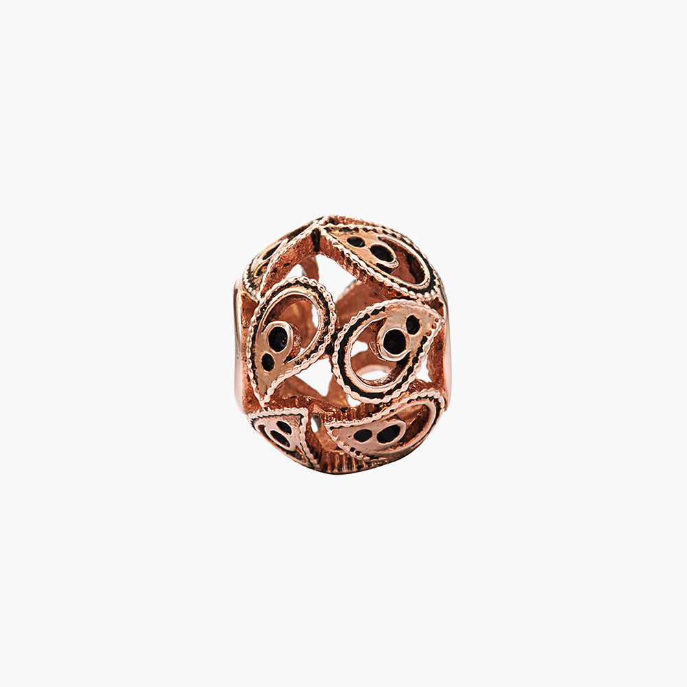 Paisley Rose Gold Bead