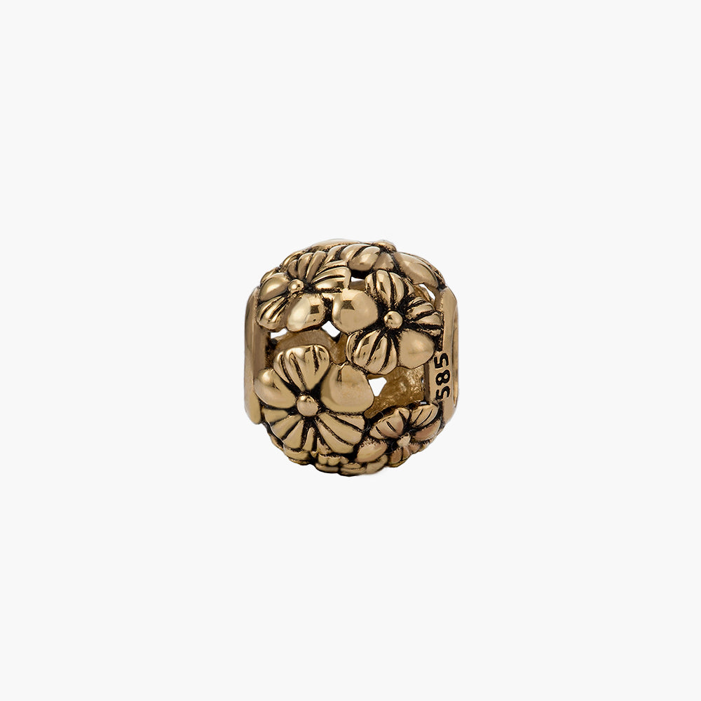 Flower Gold Bead