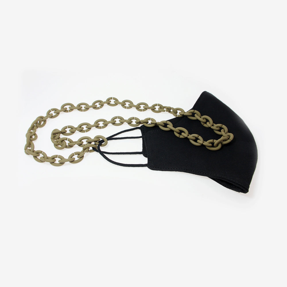 KHAKI FACE MASK CHAIN