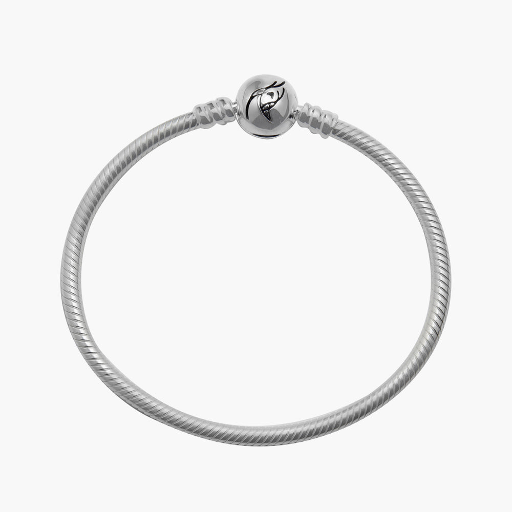 Sterling Silver Bracelet with Circle Lock
