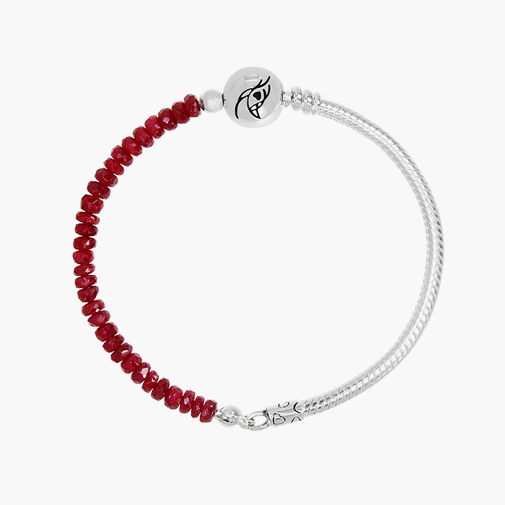 Ruby Stone Silver Bracelet (Limited Edition)