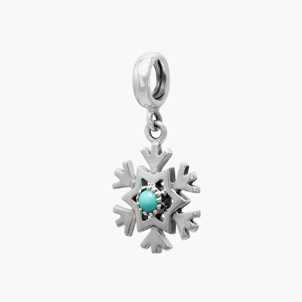 Turquoise Snowflake Dangle
