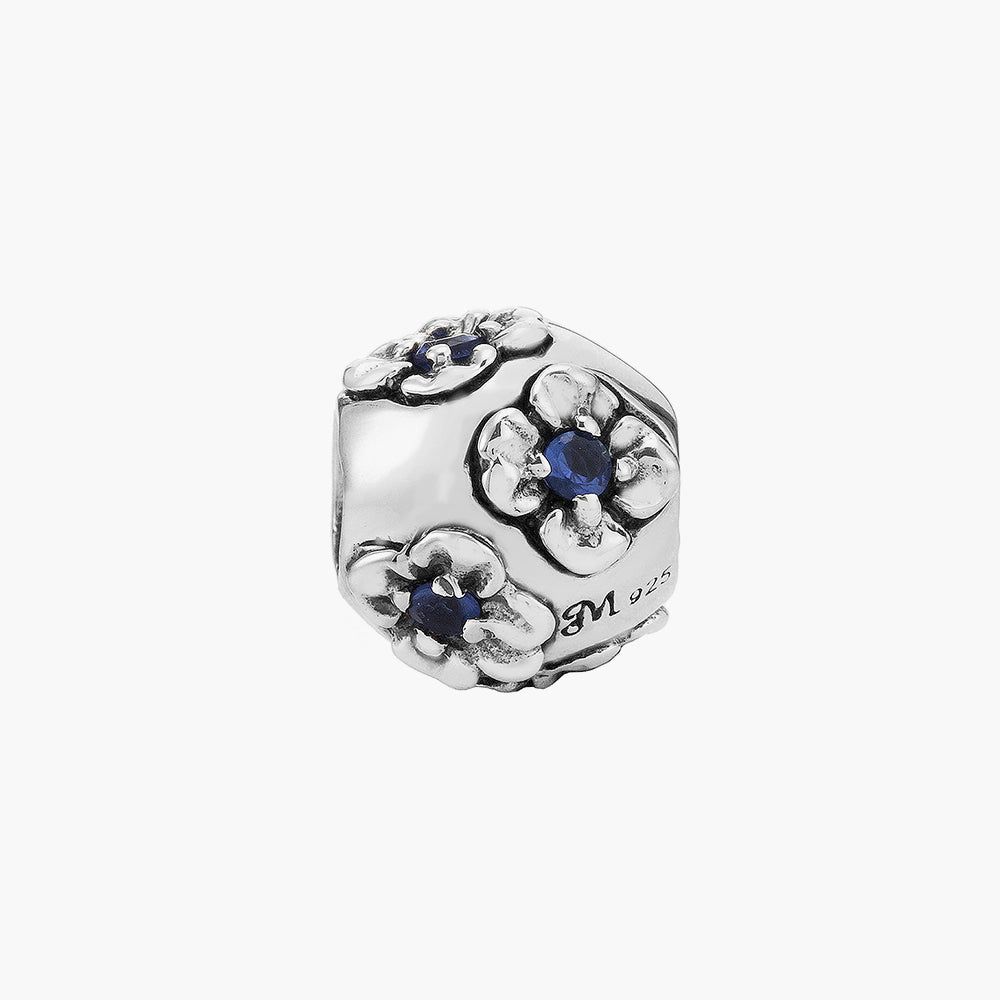 Navy Flower Bead