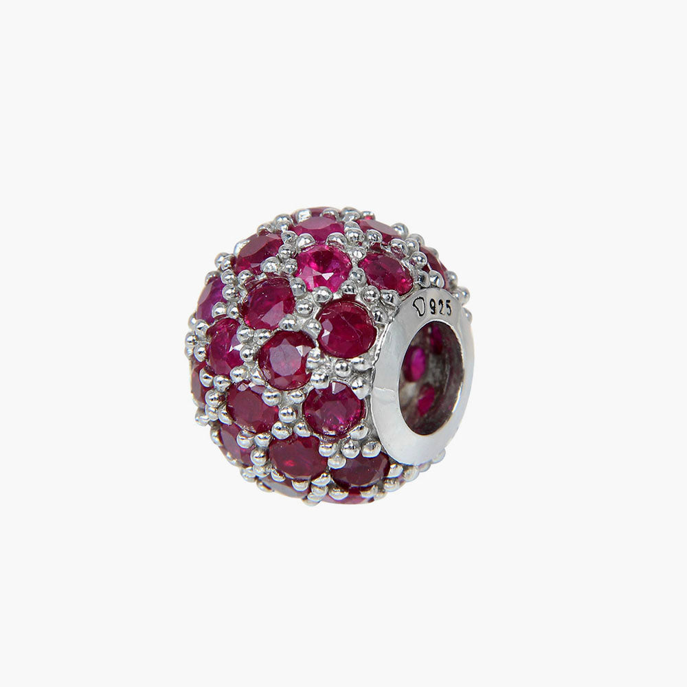 Ruby Pave Bead