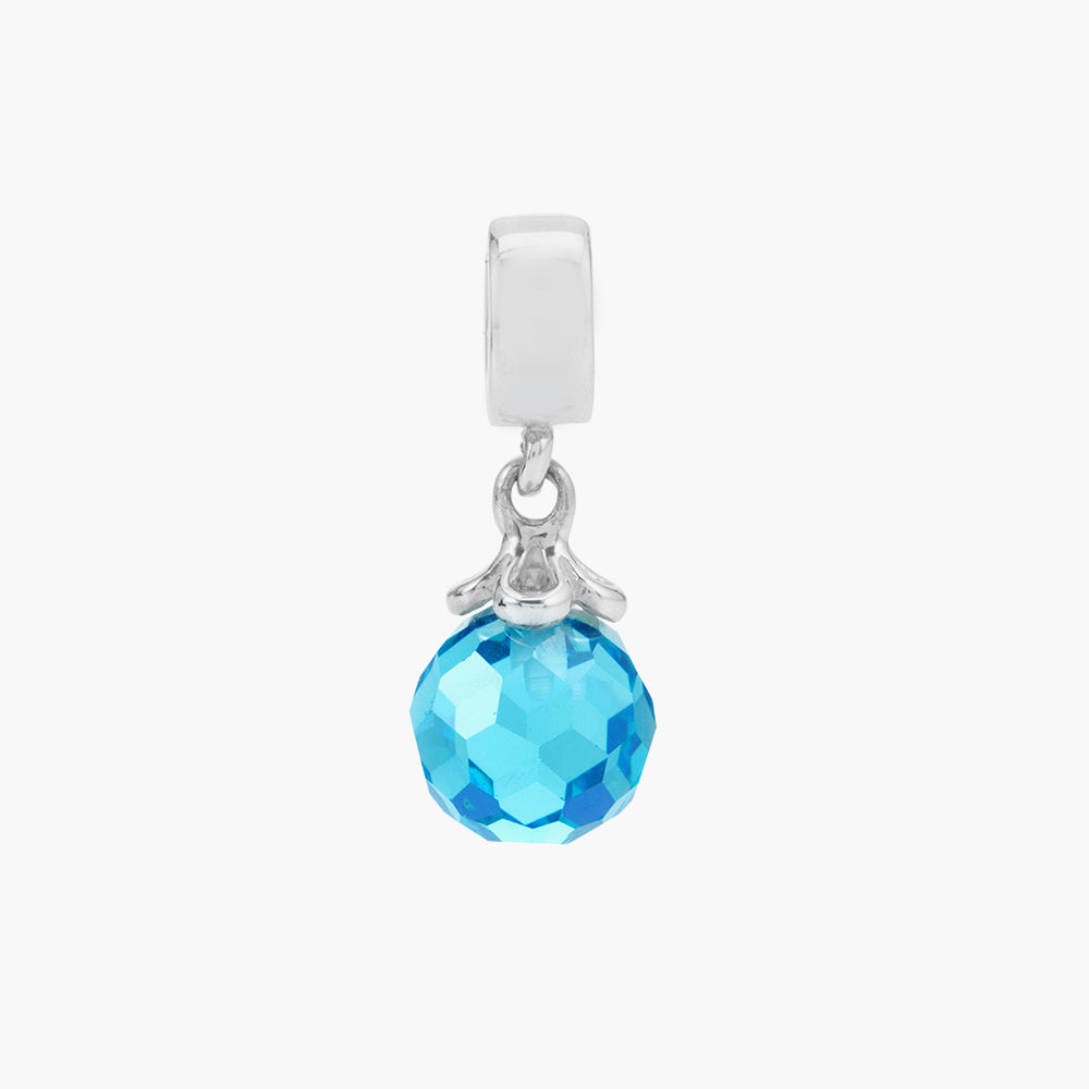 Sky Blue  Sparkling Dangle Bead