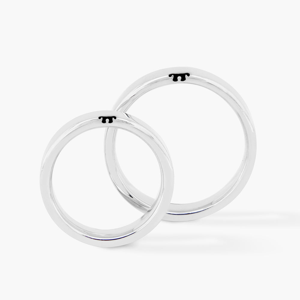 Jigsaw Couple Ring