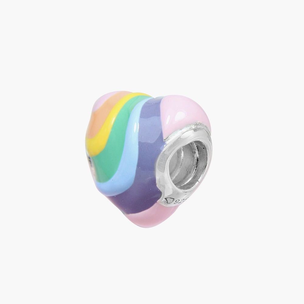 Rainbow Heart Bead